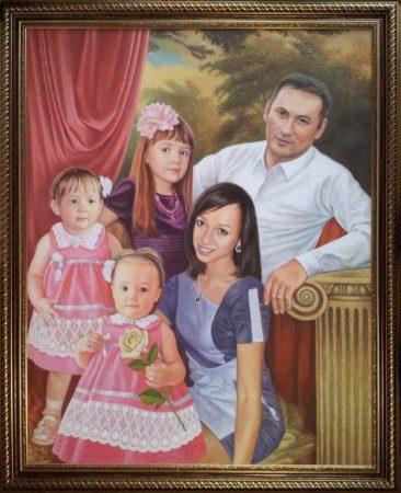 Семейный портрет маслом в Йошкар-Оле — правильная традиция…
