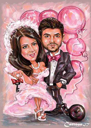 Оригинальная открытка на свадьбу, как дополнительный подарок!