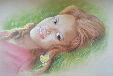 Настоящий портрет пастелью для любимой девушки в Йошкар-Оле, просто и со вкусом!
