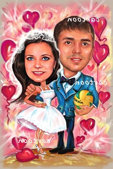 Свадебный шарж с оригинальным сюжетом в Йошкар-Оле!