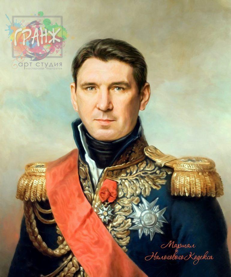 Портрет по фото на холсте в подарок мужчине на 23 февраля Йошкар-Ола