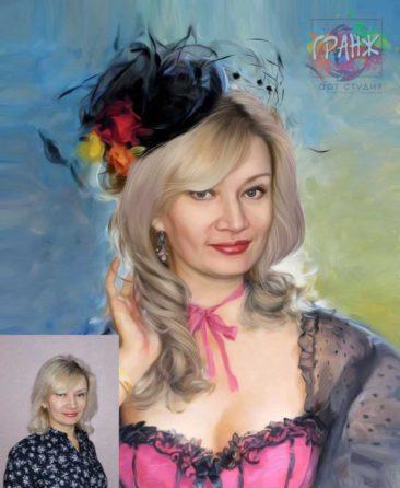 Заказать арт портрет по фото на холсте в Йошкар-Оле