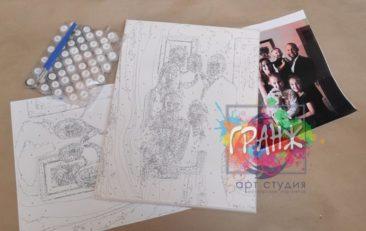 Картина по номерам по фото, портреты на холсте и дереве в Йошкар-Оле